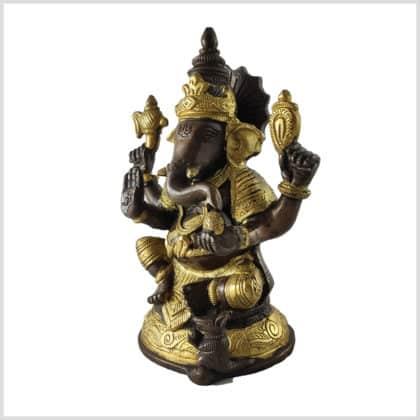 Ganesha 18cm 1,73kg Messing Kupfer Seite
