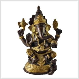 Ganesha 18cm 1,73kg Messing Kupfer Vorne