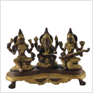 Ganesha Sarasvati Lakshmi Messing Kupfer