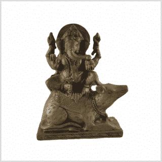 Ganesha auf Maus sitzend 16cm vorne