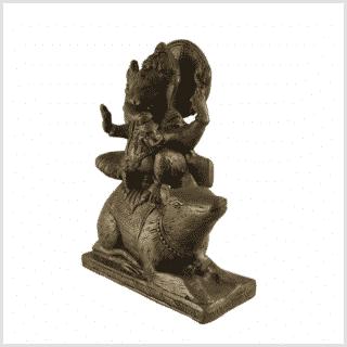 Ganesha auf Maus sitzend 16cm Seite links