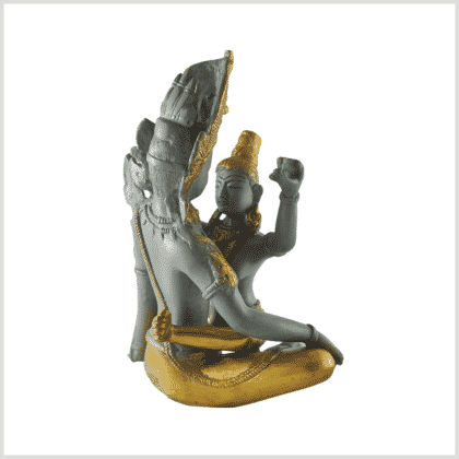 Buddha Shakti Messing betongrau hinten