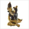 Buddha Shakti Yabyum dunkelbraun 25cm Seite