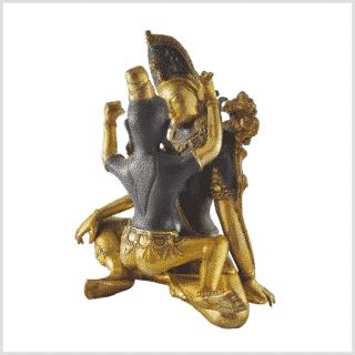 Buddha Shakti Yabyum dunkelbraun 25cm Hinten