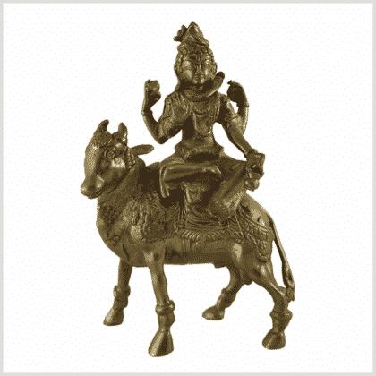 Shiva auf Nandi sitzend - 1,9kg 21,5cm 1