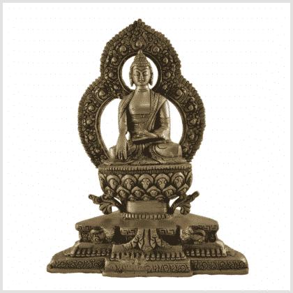 Tempelbuddha Erdender Buddha 2kg vorne