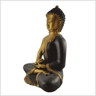 Erleuchteter Buddha 5,8kg braungold Seite links