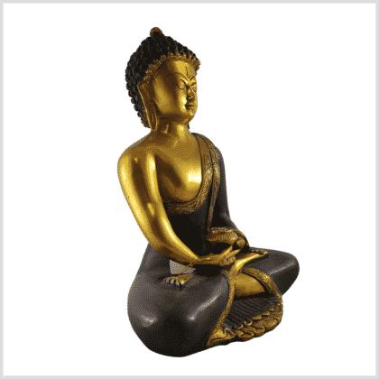 Erleuchteter Buddha 5,8kg braungold Seite rechts