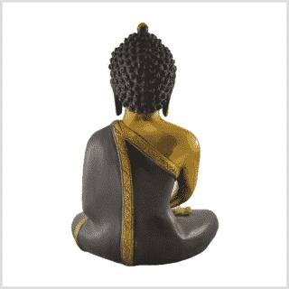 Erleuchteter Buddha 5,8kg braungold hinten