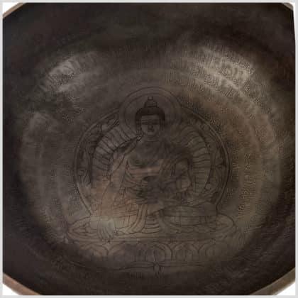 Fussklangschale Erdender Buddha 9,6kg Innenansicht