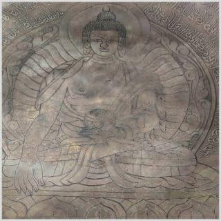Fussklangschale Erdender Buddha 9,6kg Nahansicht