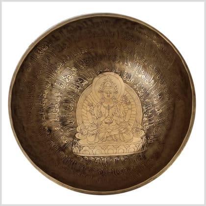 Solarplexus Klangschale F13 Avalokiteshvara 2771g Oben