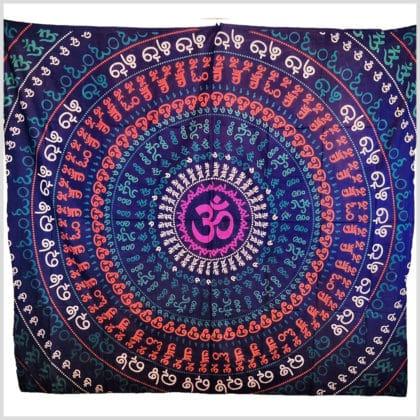Aun Mandala Wandtuch Wandbehang Aum lila 220cm