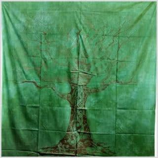 Wandbehang Lebensbaum Grüngold
