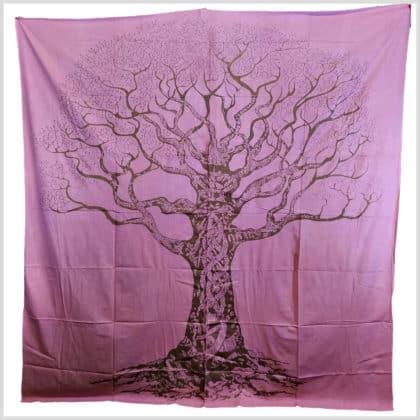 Wandbehang Wandtuch Lebensbaum rosa/lachs/rot oder grün 3