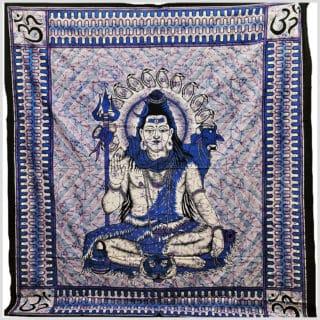 Wandtuch Shiva blau
