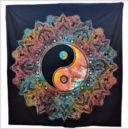 Wandbehang Yin Yang Schwarz