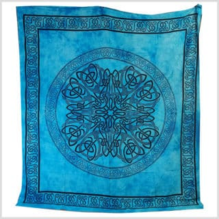 Wandtuch Blau Türkises Wandtuch 220cm