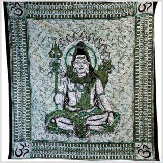 Wandtuch Shiva türkis