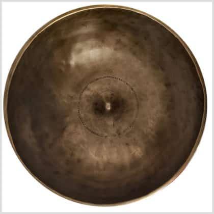 Shiva Lingam Klangschale 1623g Draufsicht