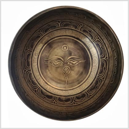 Herzchakra Klangschale Buddhas Augen 1181g