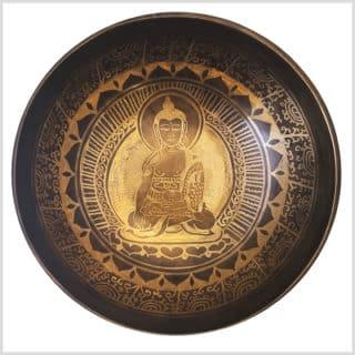 Wurzelchakra Klangschale Erdender Buddha 1485g Innenansicht