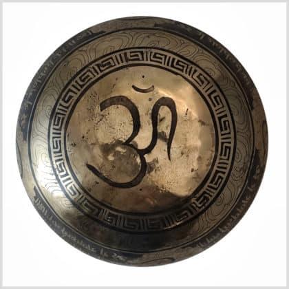 Große Herzchakra Klangschale Ganesha 1526g Boden