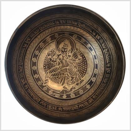 Große Herzchakra Klangschale Ganesha 1526g Innenansicht