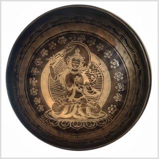Kronenchakra Klangschale 1720g Manjushri Innenansicht