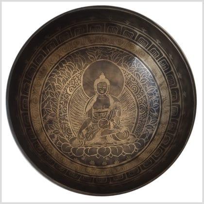 Wurzelchakra Klangschale 1743g Erdender Buddha Innenansicht