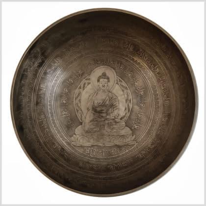 Wurzelchakra Klangschale Erdender Buddha 3199g Draufsicht