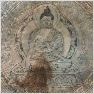 Fussklangschale Wurzelchakra Erdender Buddha 7166g Innen