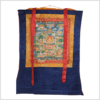 Thangka Zwölf Große Taten Buddhas blau