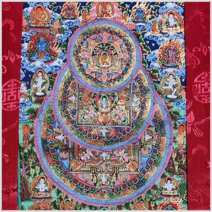 Thangka Mandala Pyramide Nahansicht