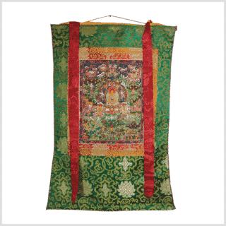 Zwölf große Taten Buddhas Thangka Vollansicht