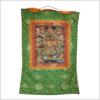 Thangka 12 große Taten Buddhas grün defekt Vollansicht