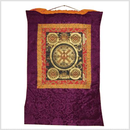Thangka fünf Mandalas Avalokiteshvara Vollansicht