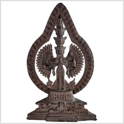 Chenrezig Avalokiteshvara 26cm steingrau vorne