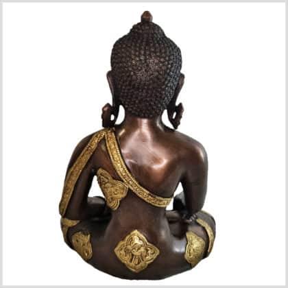 Medizinbuddha Ashtmangala Messing Kupfer 29cm Hinten