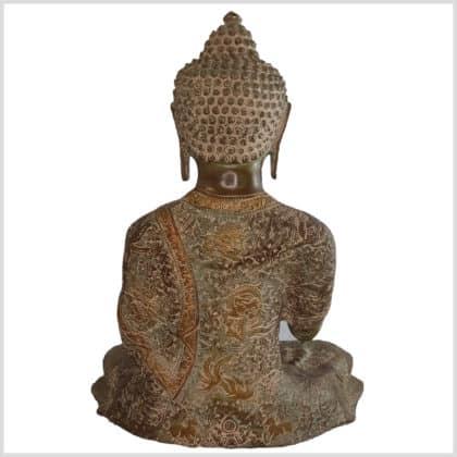 Segnender Buddha Abahaya Mudra beigebraun hinten