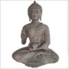 Lehrender Budda 32cm 5,2kg Ashtamangala steingrau Vorne