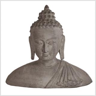Buddhakopf Messing granitgrau 30cm