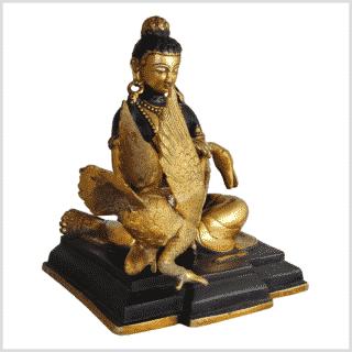 Buddha und der Schwan 23cm braungold rechts