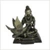 Buddha mit Schwan Messing schwarzgold vorne