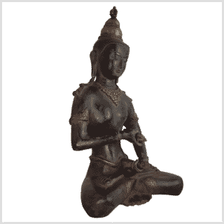 Vajrasattva Dorje Sempa braun 33,5cm rechts