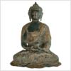 Erleuchteter Buddha 29cm altgrün vorne