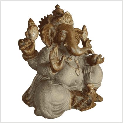 Ganesha Messing sandbeige 35,5cm Seite rechts