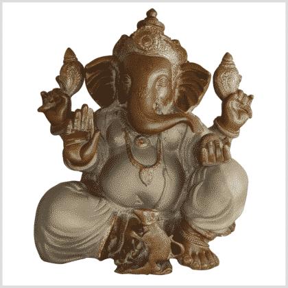 Ganesha Messing sandbeige 35,5cm vorne