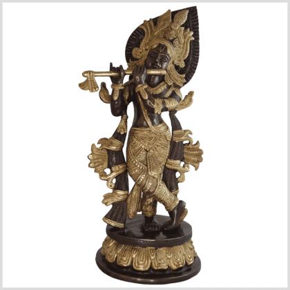 Krishna Messing verkupfert 34cm vorne