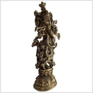 Krishna Lotus 51cm 8kg Messing Seite rechts